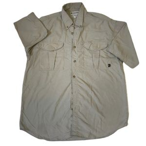 Columbia GRT Short Sleeve Button Down Shirt Sz L
